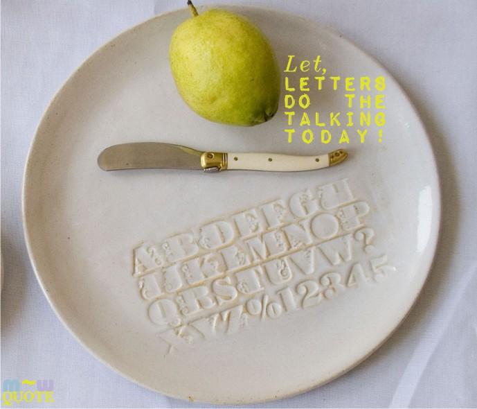 prepost embossed letters