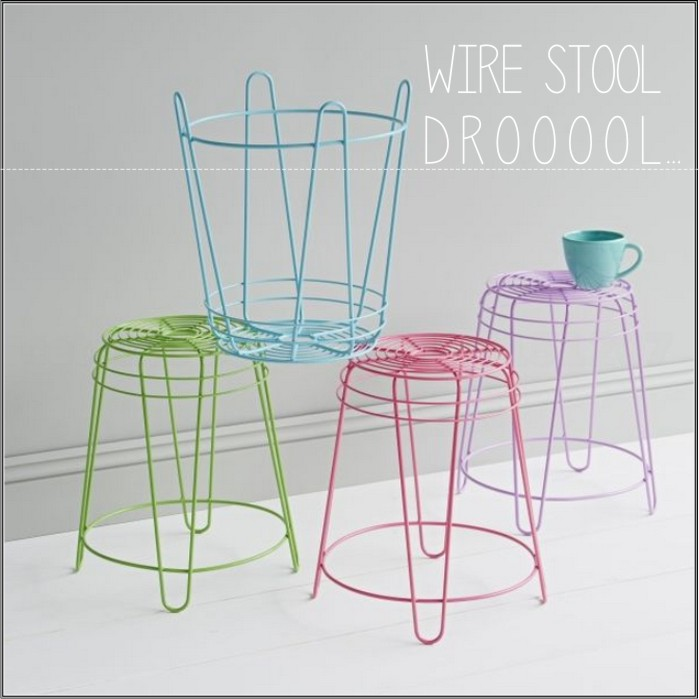 wire stool prepost