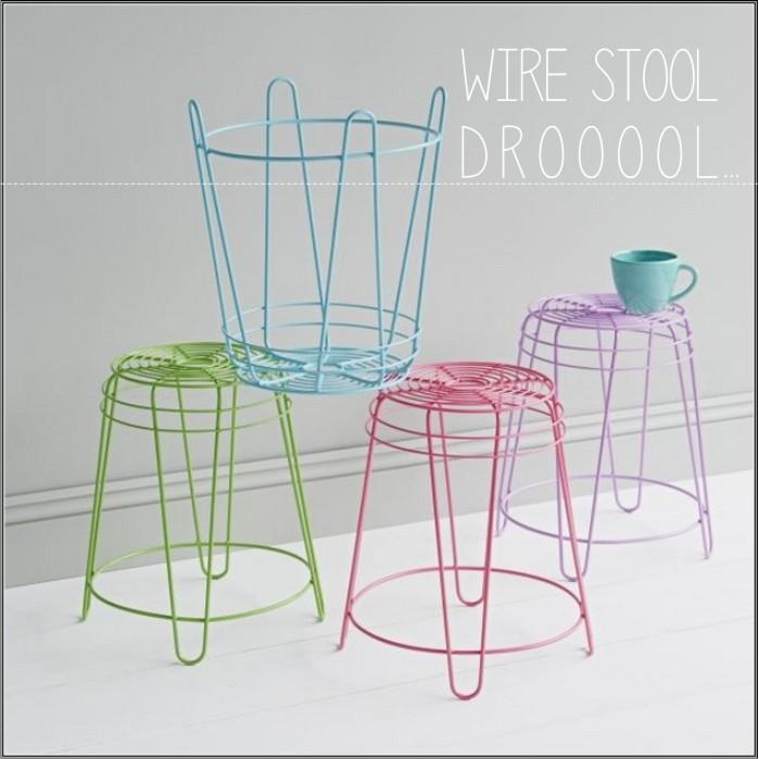 wire stool prepost